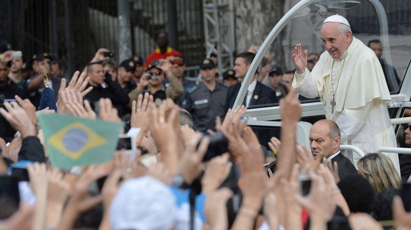 Papa Francisco nas jornadas do Rio de Janeiro, as primeiras em que participou. Foto: DR