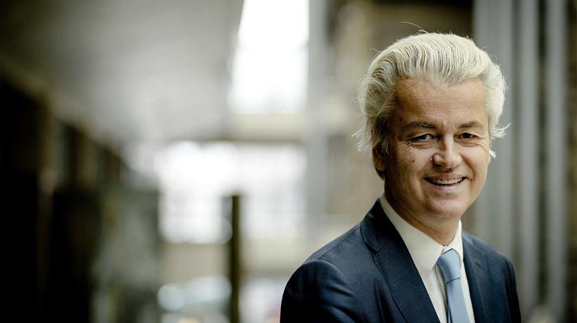 """Wilders recebeu a alcunha de """"Mozart de Venlo"""". Foto: Obin Van Lonkhuijsen/EPA"""