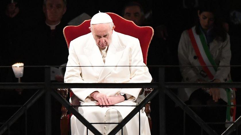 Papa Francisco na Via de 2017. Foto: Claudio Peri/EPA