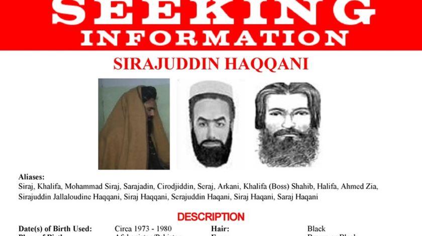 Sirajuddin Haqqani é procurado pelos EUA, que oferecem cinco milhões de dólares por informação que conduza à sua detenção. Foto: DR