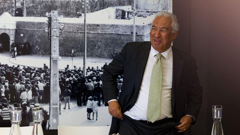 Antonio Costa durante o Conselho de Ministros na Fortaleza de Peniche Foto: Paulo Cunha/Lusa