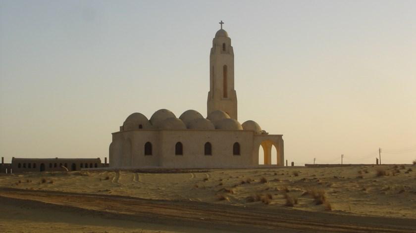 Mosteiro de São Samuel, o Confessor, em Minya, para onde se dirigiam os peregrinos
