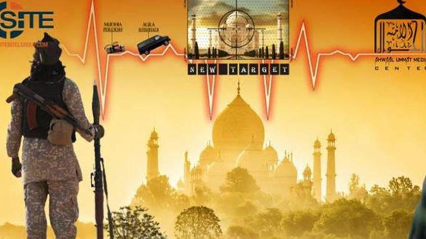 Jihadistas ameaçam Taj Mahal. Foto: DR