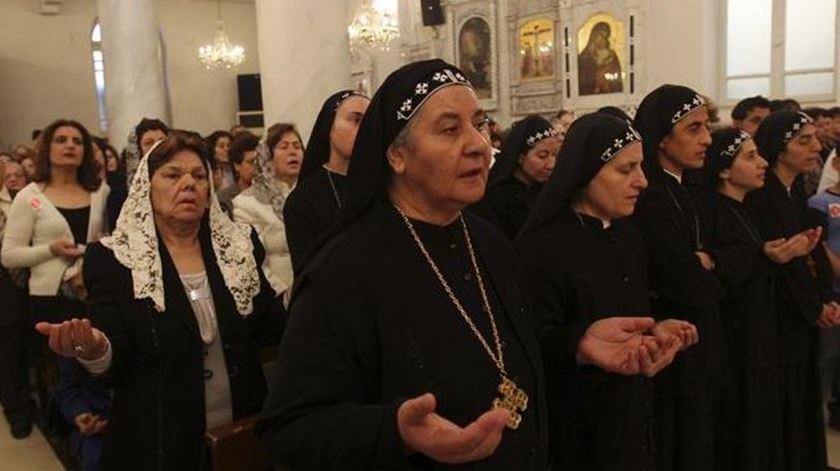Cristãos na Síria. Foto: EPA
