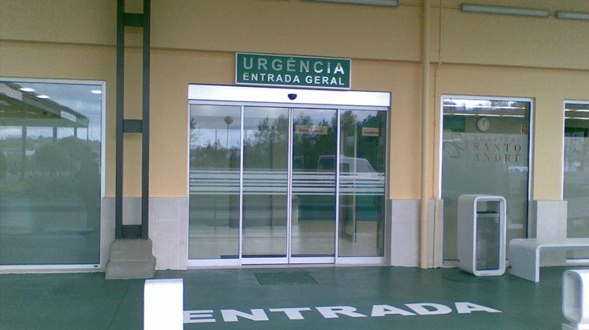 Entrada do serviço de urgência do Hospital de Leiria. Foto: DR