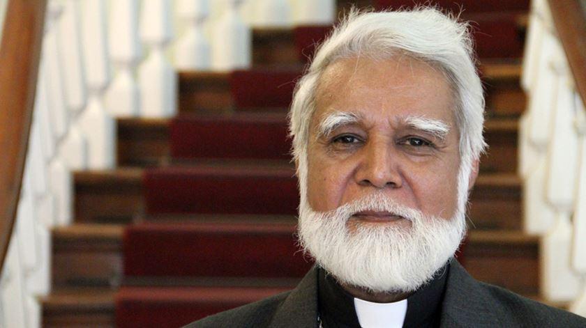 O arcebispo Joseph Coutts, do Paquistão, integrou a comitiva da AIS que visitou Francisco. Foto: Edgar Sousa/RR