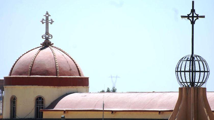 Uma igreja em Qaraqosh, a maior cidade cristã do país está prestes a ser libertada. Foto: DR