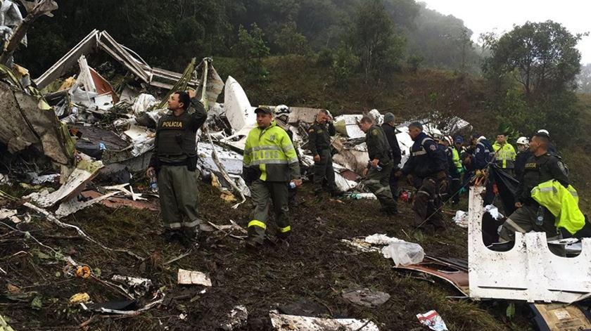 Queda de avião da LaMia matou 71 pessoas. Foto: Polícia de Antioquia/Twitter