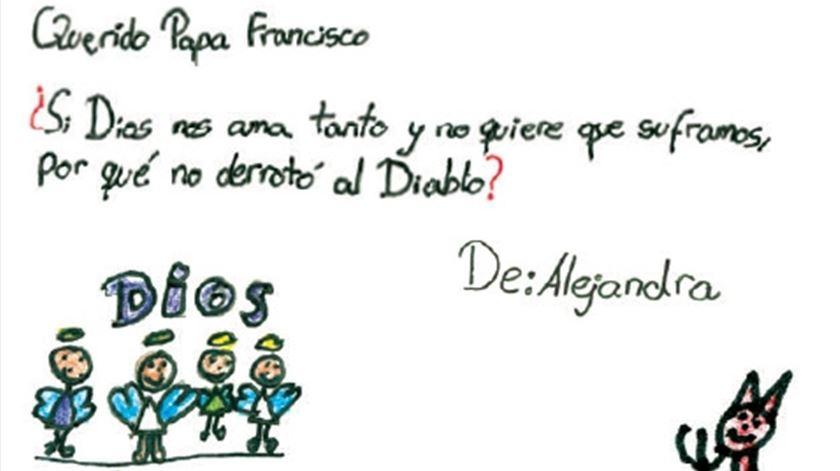 A carta de Alejandra, do Peru. Clique para ver maior