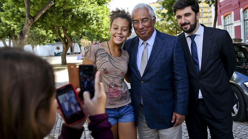 António Costa esteve esta manhã no liceu Passos Manoel, em Lisboa. Foto: José Sena Goulão/Lusa