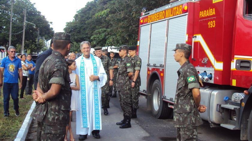 D. Aldo di Cillo Pagotto, num evento com os bombeiros militares do Brasil. Foto: DR