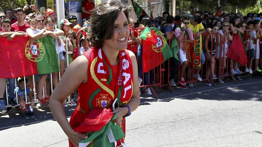 Líder do CDS-PP chegou a Belém vestida a rigor. Foto: Nuno Veiga/Lusa