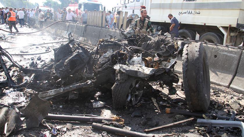 Atentado na Síria. Foto: Sana/EPA