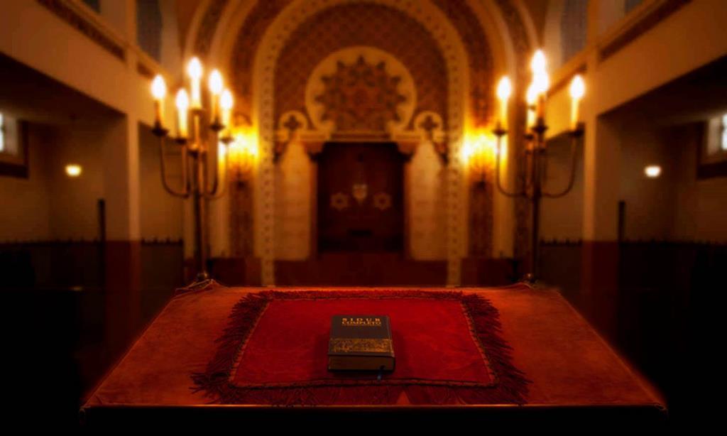 Sinagoga Kadoorie Mekor Haim, no Porto, onde foram colocados autocolantes de um grupo anti-fascista alemão. Foto: Comunidade Israelita do Porto