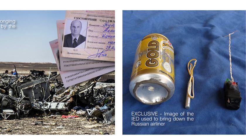 Bomba alegadamente usada pelo Estado Islâmico para abater avião russo no Sinai. Foto: Dabiq