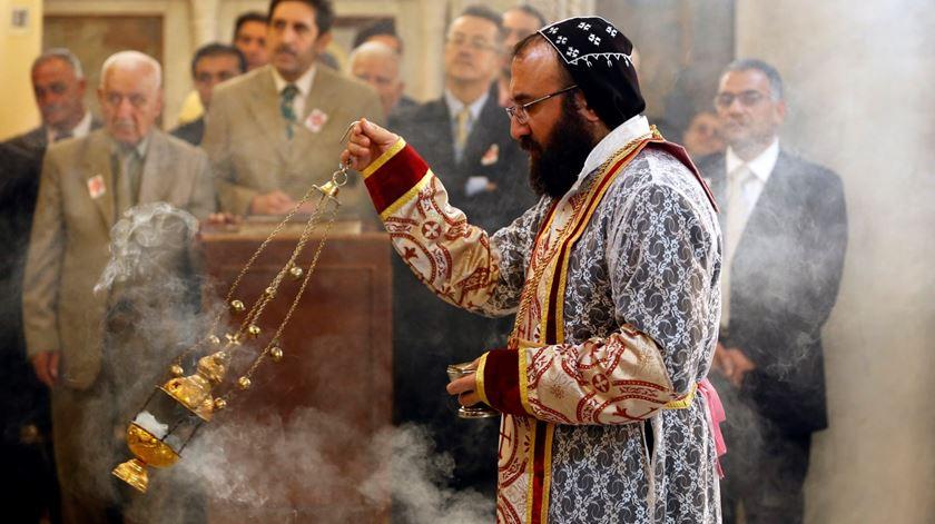 Cristãos celebram o Natal no Iraque. Foto: Yousef Badawi/EPA
