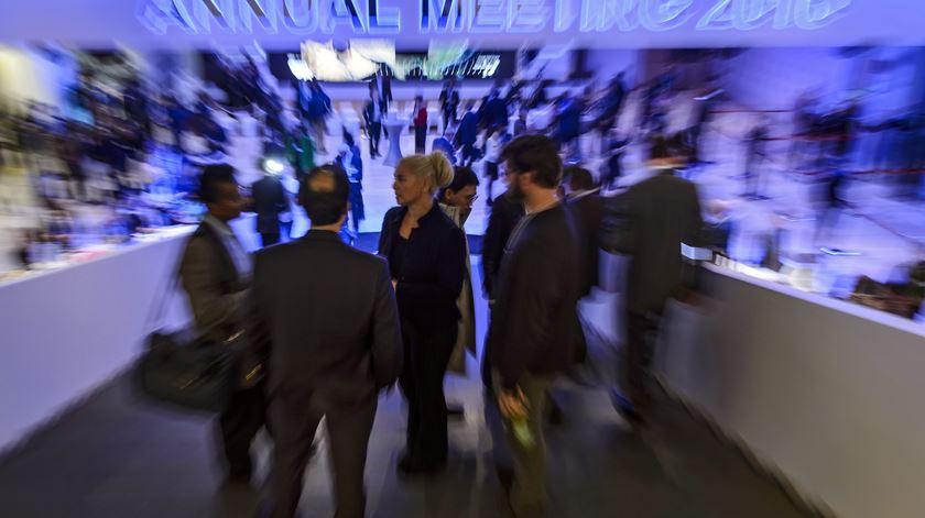 Fórum de Davos começou esta quarta-feira. Foto: Jean-Christophe Bott/EPA