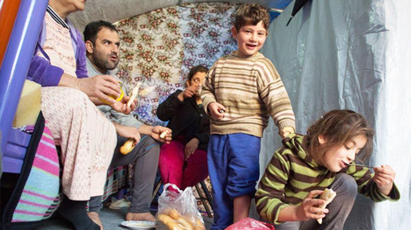 Cristãos refugiados em Erbil, no Curdistão iraquiano. Foto: AIS
