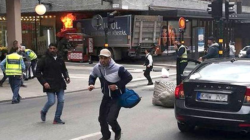 Não há indicação de portugueses entre as vítimas do atentado de Estocolmo esta sexta-feira. Foto: Twitter