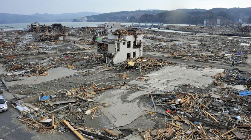 Fukushima depois do tríplice desastre de 2011. Foto: Kimimasa Mayama/EPA