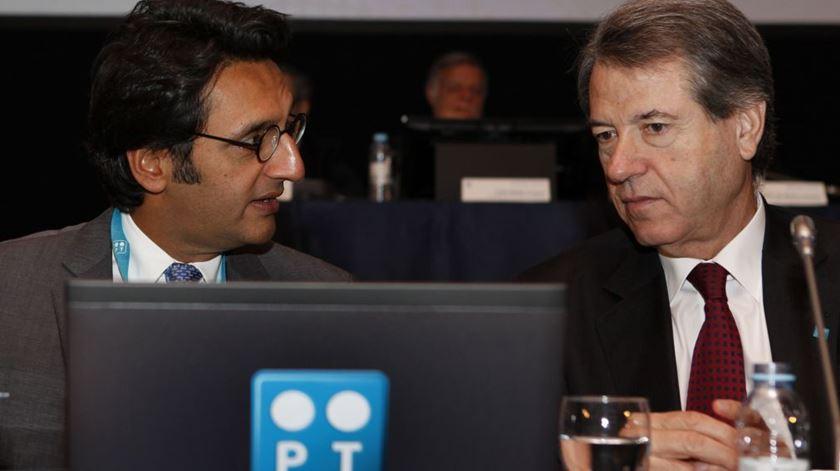 Henrique Granadeiro com Zeinal Bava. Foto: Lusa (arquivo)