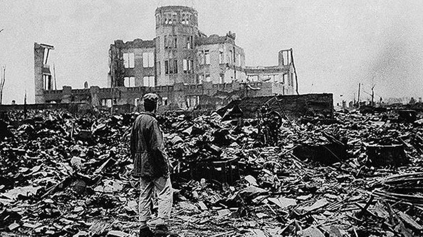 Hiroxima depois do ataque nuclear de 1945. Foto: DR