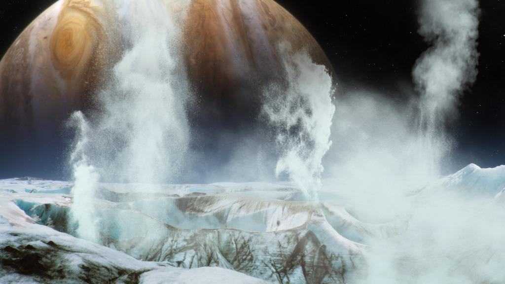 Lua Europa, de Júpiter Foto: NASA