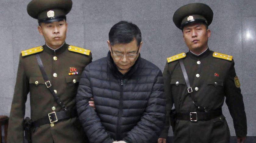 Hyeon Soo Lim, condenado a prisão perpétua na Coreia do Norte. Foto: DR