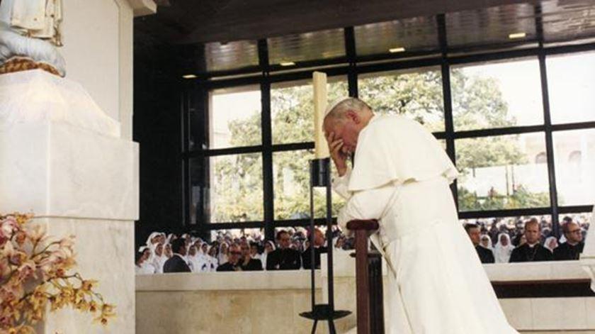 João Paulo II esteve em Fátima em maio de 1982. Foto: Santuário de Fátima