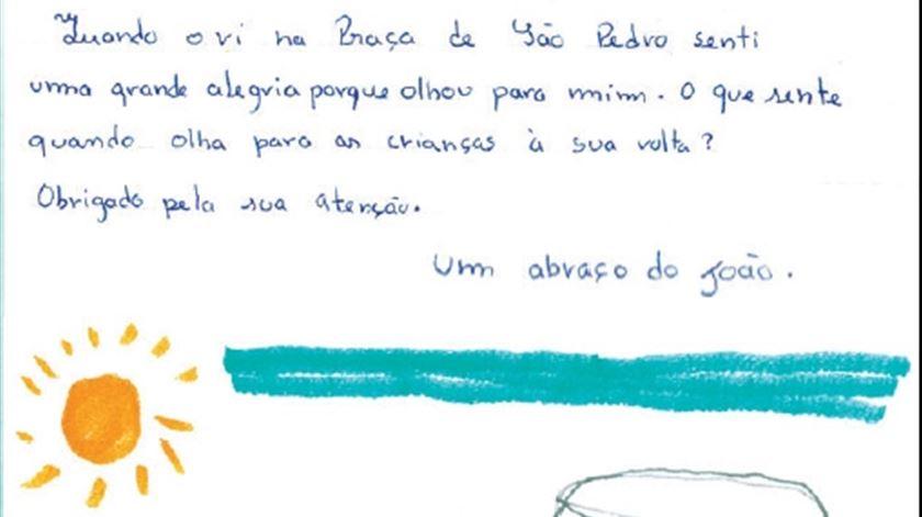 A carta de João, de Portugal. Clique para ver maior