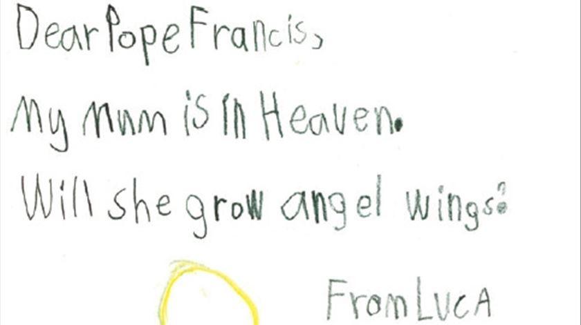 A carta de William, da Austrália. Clique para ver maior