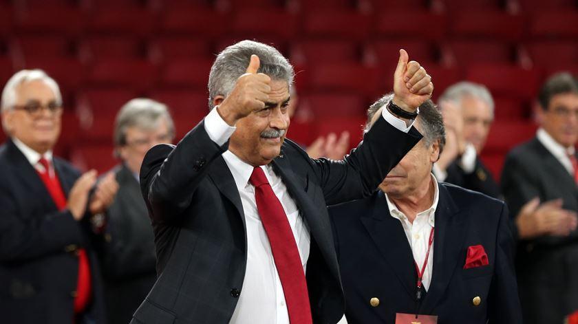 Luís Filipe Vieira com objectivo ambicioso até 2020. Foto: Manuel de Almeida/Lusa