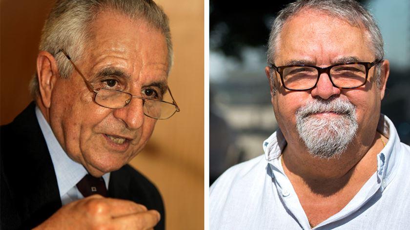 Malaca Casteleiro (à esquerda) e Mário Cláudio. Fotos: Miguel A. Lopes/Lusa e DR