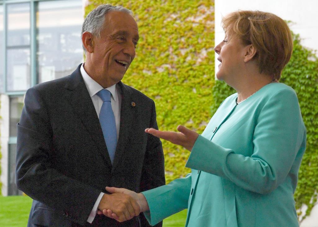 Marcelo diz que Merkel apenas constatou factos. Foto:Soeren Stache/EPA