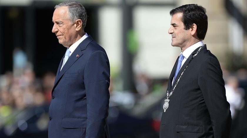 Presidente da República acompanhado pelo presidente da Câmara do Porto. Foto: Fernando Veludo/ Lusa