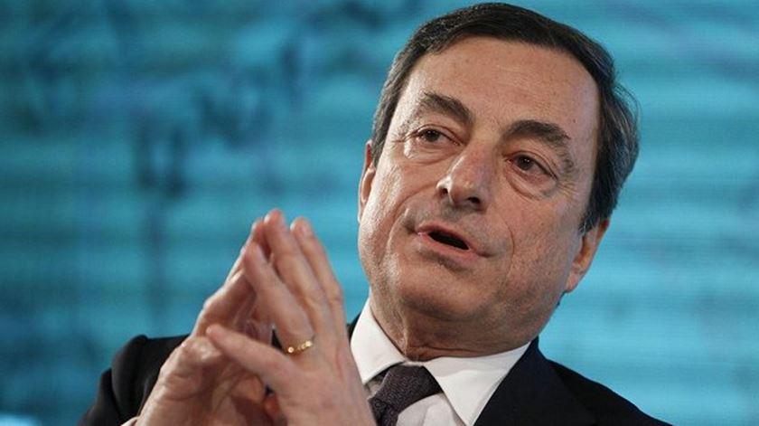Mário Draghi vacinado com AstraZeneca. Foto: DR