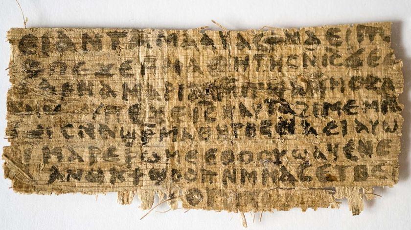 Imagem do papiro que alegava que Jesus tinha sido casado. Foto: DR