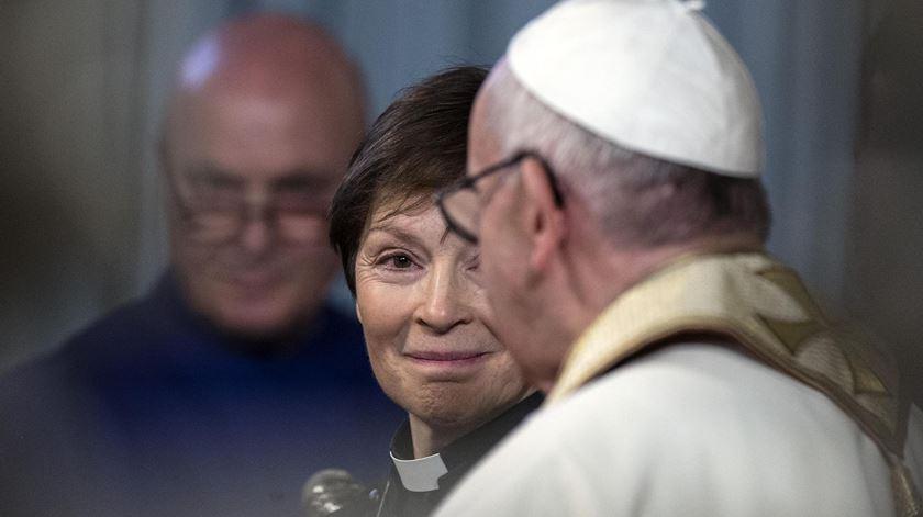 Francisco revelou a intenção de visitar o Sudão do Sul em conversa com membros da comunidade anglicana de Roma. Foto Angelo Carconi/EPA