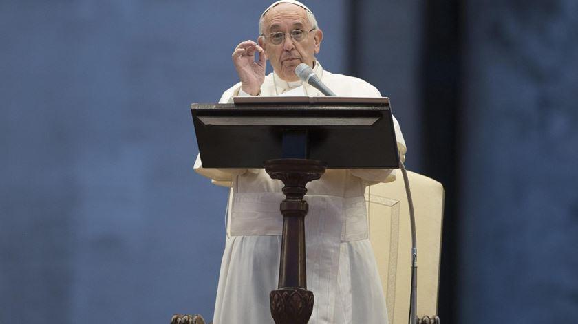 O Papa Francisco falou dos refugiados e do mercado livre. Foto: DR