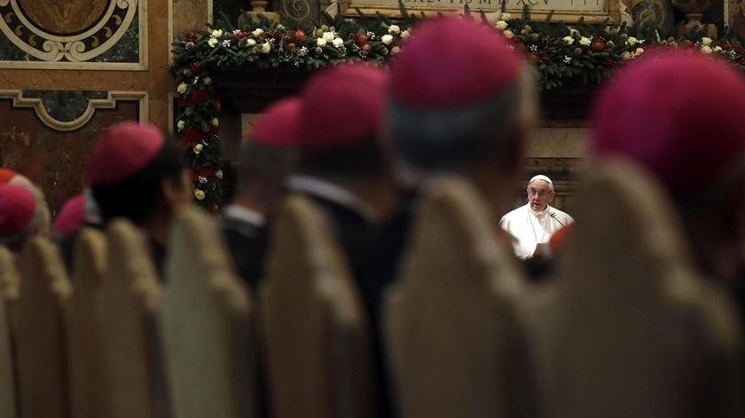 Francisco critica desunião entre os bispos americanos. Foto: Gregorio Borgia/EPA