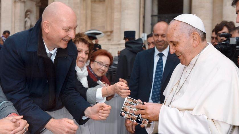 Daniel Pittet e o Papa conheceram-se no Vaticano quando este foi apresentar um livro sobre vida consagrada. Foto: DR