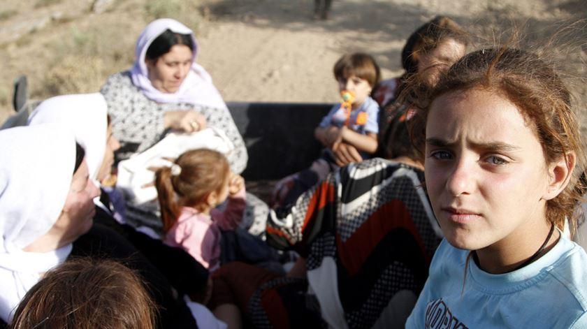 Refugiados yazidis no Iraque no auge da perseguição pelo Estado Islâmico. Foto: Ulas Yunus Tosun/EPA