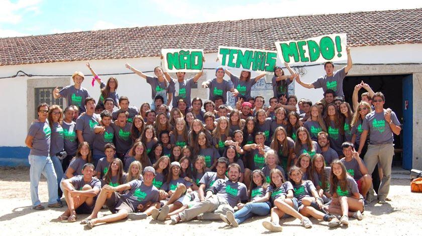 Participantes num campo de férias católico da organização Sairef. Foto: Sairef