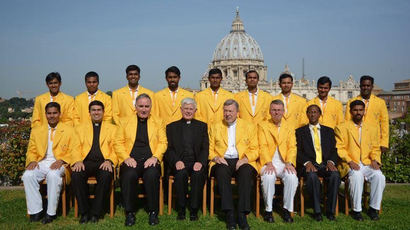 Equipa de críquete do Vaticano. Foto: St. Peter