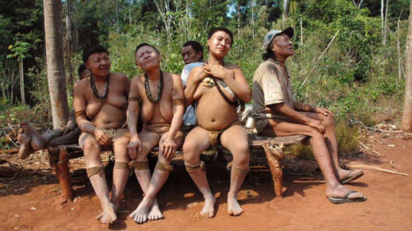 Os últimos membros da tribo Akuntsu. Foto: Survival Internacional