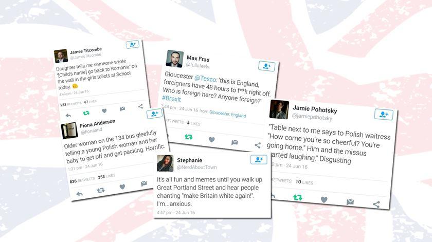 """Uma colecção de """"tweets"""" que denunciam casos de xenofobia"""