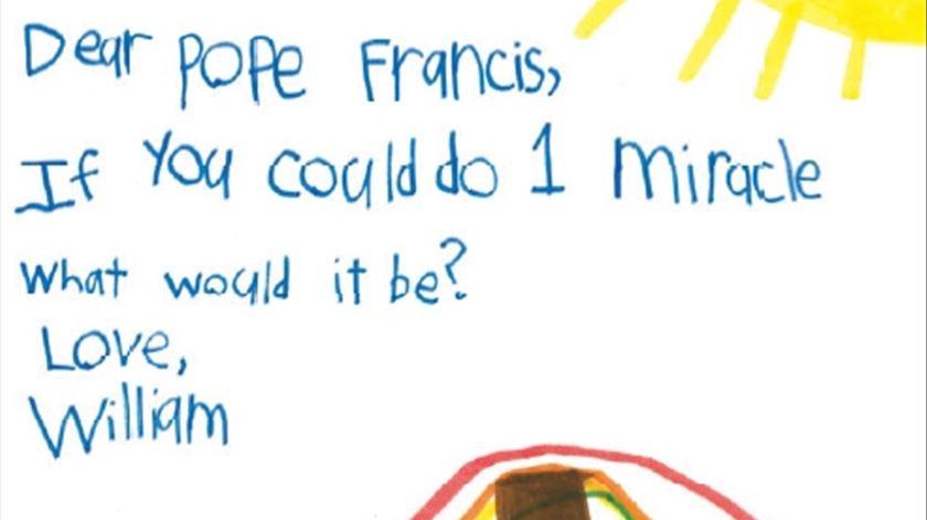 A carta de William, dos EUA. Clique para ver maior